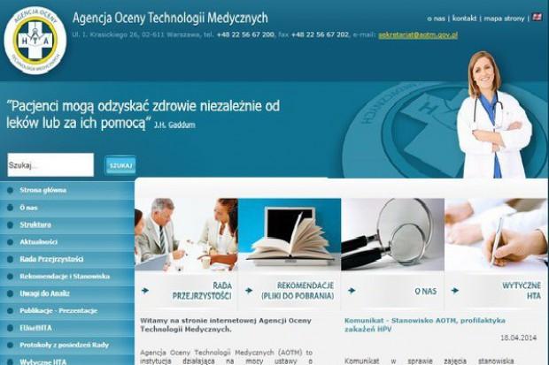 Oceny leków przez Radę Przejrzystości AOTM