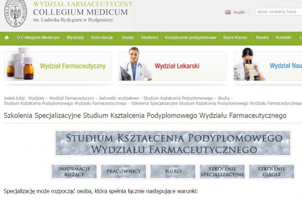 Collegium Medicum w Bydgoszczy wykształci specjalistów z farmacji aptecznej