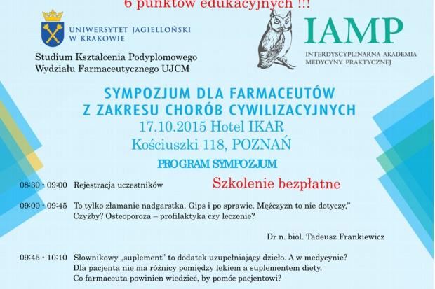 Sympozjum w Poznaniu: 4 pkt. i 2 miękkie dla farmaceutów