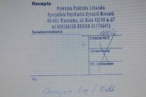 Warszawa: próba zakupu leku na podstawie fałszywej recepty