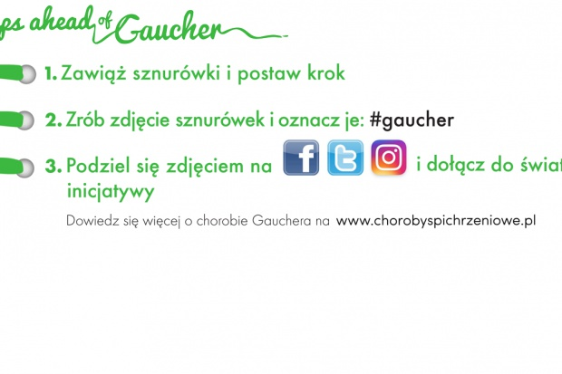 Zielony krok wsparcia dla osób zmagających się z chorobą Gauchera