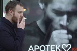 Szwecja: kaszlący billboard