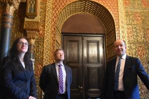 Konstanty Radziwiłł na spacerze ze zwycięzcami licytacji WOŚP