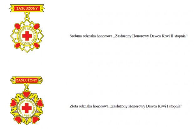 Nowe wzory odznak honorowych dawców krwi