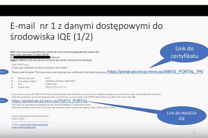 Generowanie certyfikatu dostępu do IQE