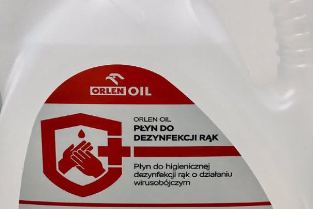Orlen: płyn dezynfekujący trafia właśnie do Agencji Rezerw Materiałowych