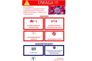 Plakat informacyjny do zawieszenia w aptekach