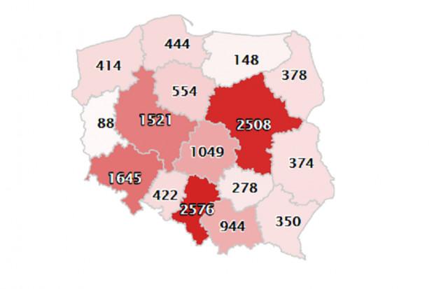COVID-19. Województwo śląskie z najwyższą liczbą zakażonych
