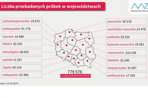 Mazowsze, Wielkopolska, Śląsk: tu wykonano najwięcej testów