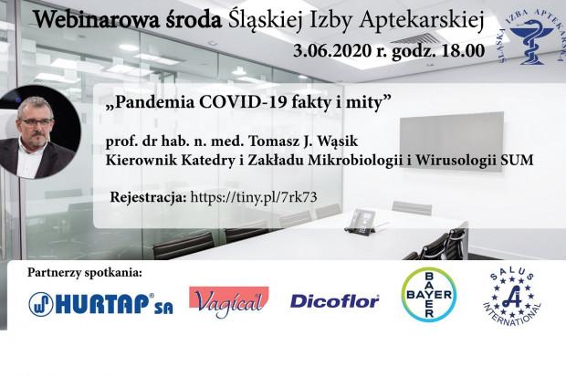 Webinar: Pandemia COVID-19 fakty i mity. Czy grozi nam 2 fala na jesień?