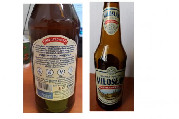 GIS: kawałki szkła w piwie. Wycofanie serii produktu
