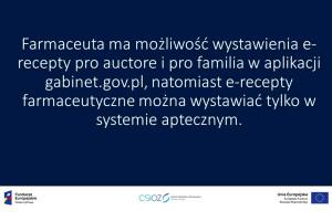 Funkcjonalności aplikacji gabinet gov.pl dostępne dla farmaceuty