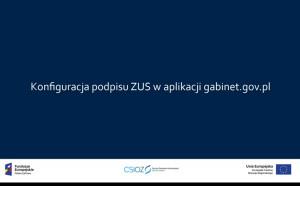 Farmaceuta w aplikacji gabinet.gov.pl: jak skonfigurować podpis ZUS?