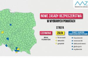 MZ: zmiany na liście powiatów objętych dodatkowymi obostrzeniami