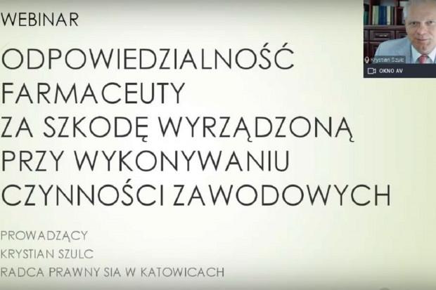 SIA: nagranie z webinaru. O OC farmaceutów