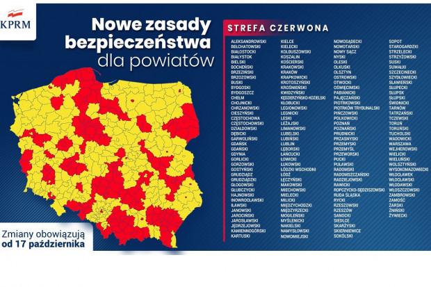 W strefie czerwonej znajdzie się prawie połowa Polski