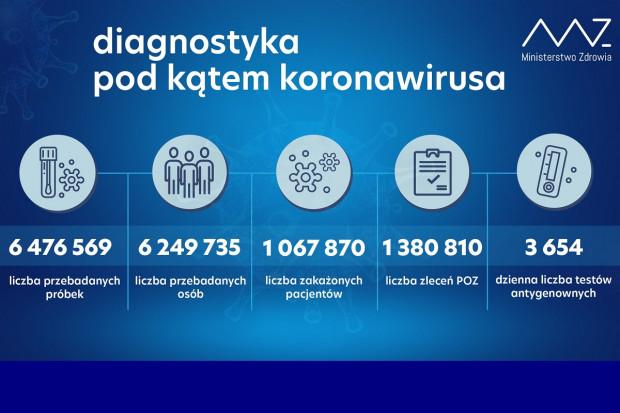 MZ: ponad 20,2,4 tys. testów wykonanych dobowo