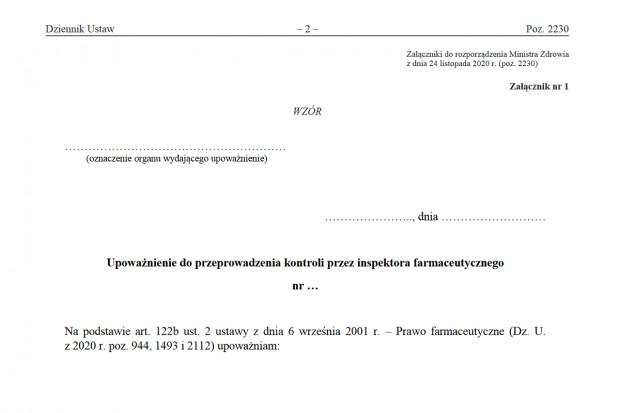 Kontrola inspekcji farmaceutycznej: nowe wzory dokumentów