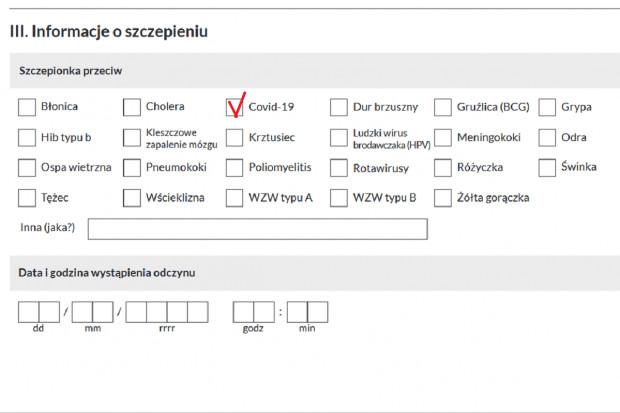 Dz.U.: nowy wzór karty zgłoszenia NOP