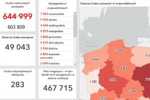 MZ: do tej pory wykonano w Polsce 603 809 szczepień
