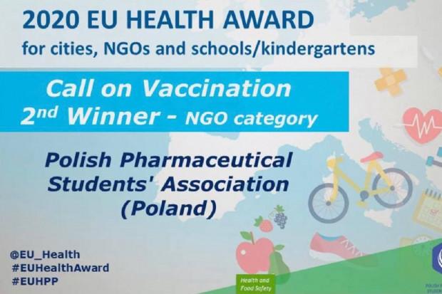 Sukces studentów farmacji. Wyróżnienie za akcję PTSF propagującą szczepienia